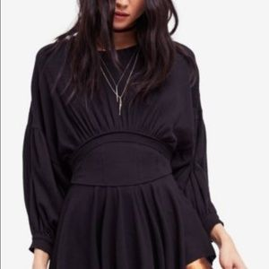 Free People Time Travel Knit Cinched Waist Top